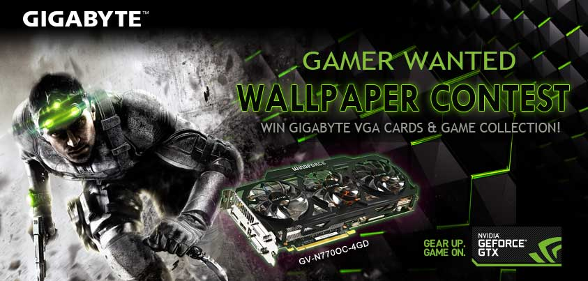 Gamer Wanted GIGABYTE Gaming Wallpaper Contest Show Off Your Best FPS Themed Design To Win Fabulous Prizes