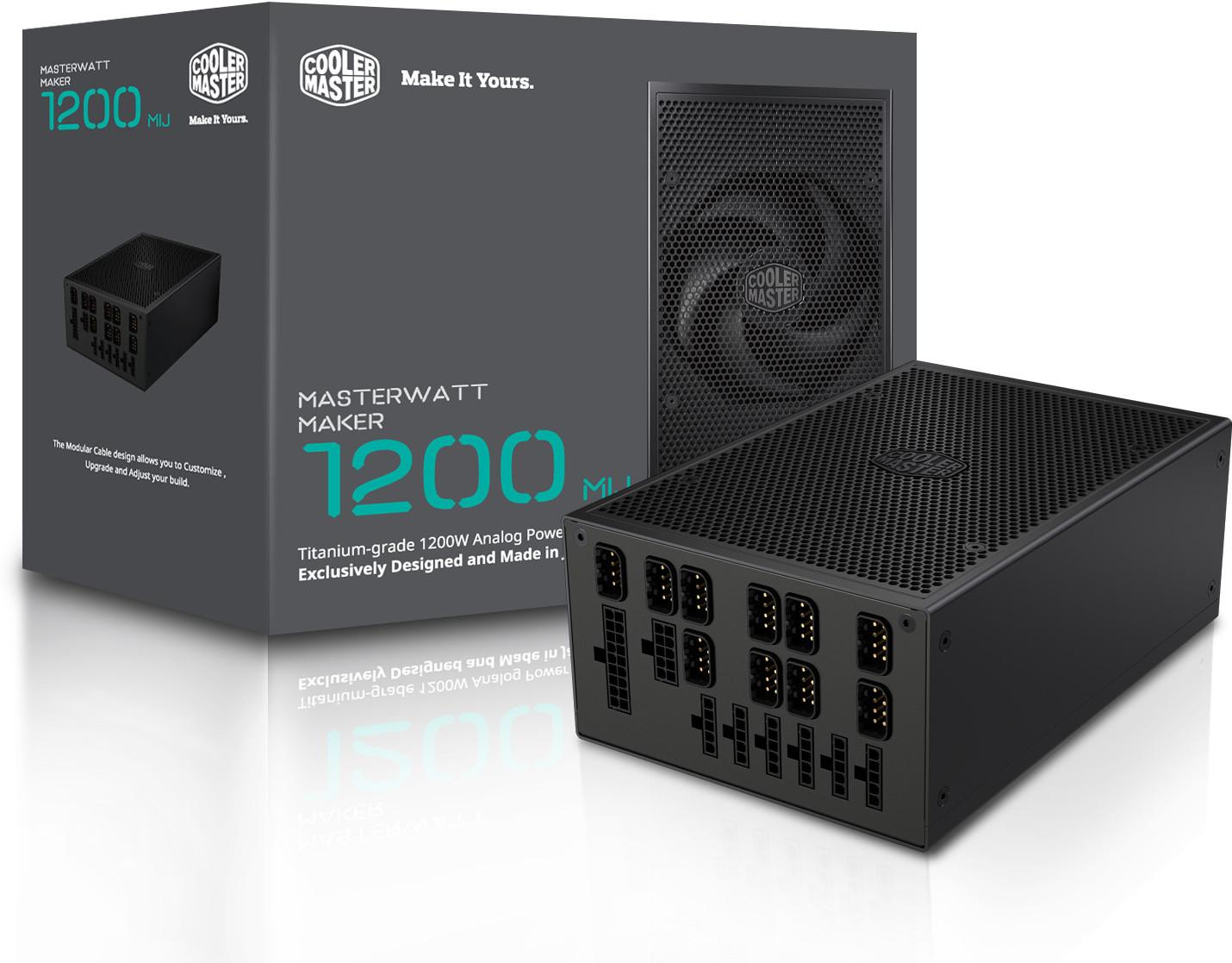 Cooler Master Launches MasterWatt Maker 1200 MIJ PSU - TheOverclocker
