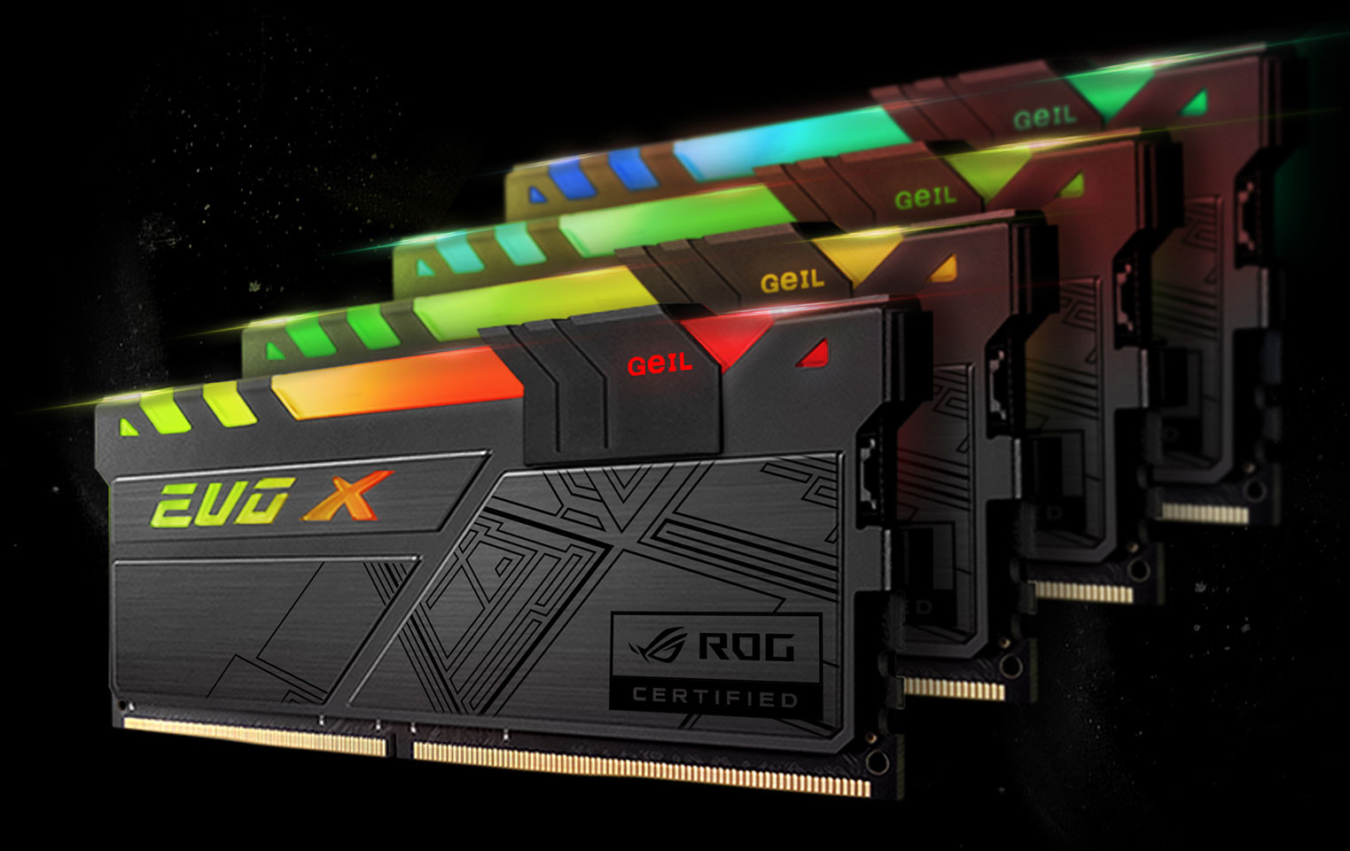 GeIL Announced World's First Fully RGB DDR4 Memory with ASUS ROG