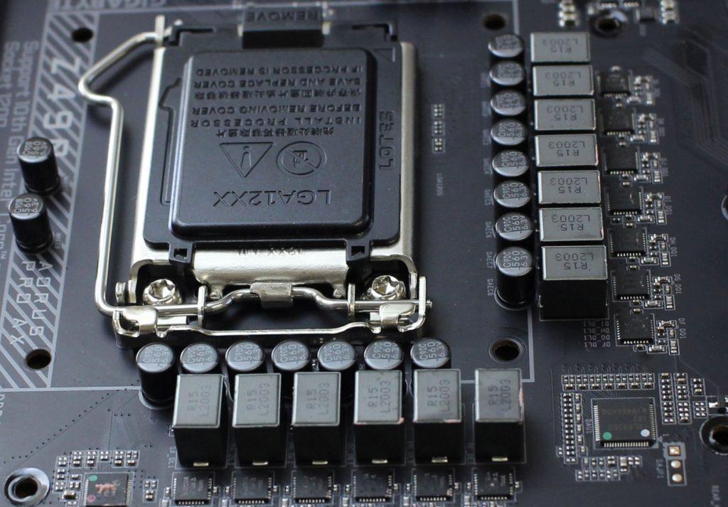 Z490 AORUS PRO-AX Vishay power stages