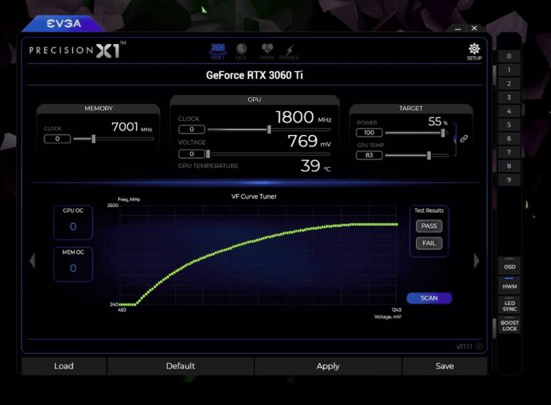 EVGA GeForce RTX™ 3060 Ti Precision X1